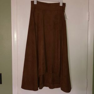 JAG brown shin length skirt